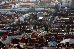 Rooftops in Lisbon Stock Photo