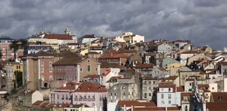 Rooftops of Lisbon city Stock Photography