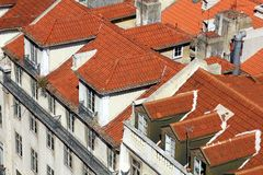 Rooftops in Lisbon, Portugal Royalty Free Stock Images