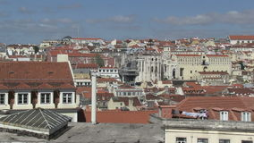 Rooftops of Lisbon, Portugal. City view of downtown Lisbon, Portugal stock footage