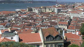 Rooftops of Lisbon, Portugal stock video footage