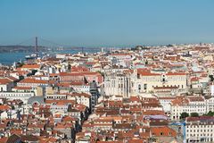 Rooftops of Lisbon, Portugal Stock Photo