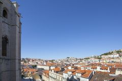 Rooftops of Lisbon Stock Photography