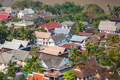 Rooftops of Luang Prabang Royalty Free Stock Photos