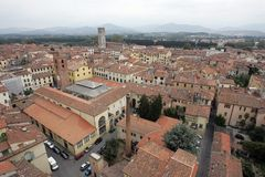 Rooftops of Lucca royalty free stock images