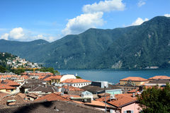 Rooftops Lugano Stock Photography