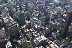 Rooftops of Manhattan Royalty Free Stock Photography
