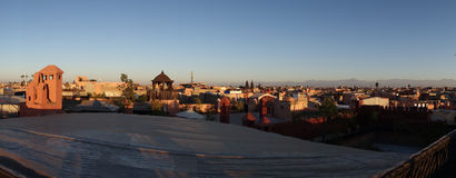 Rooftops of the Marrakesh Medina Stock Photos