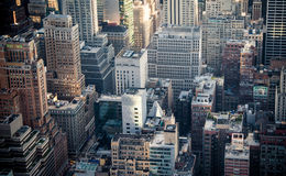 Rooftops of midtown Manhattan Royalty Free Stock Photos