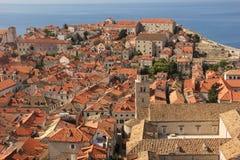 rooftops Monastère franciscain dubrovnik Croatie Images libres de droits