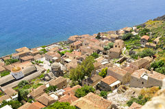 Rooftops of monemvasia Stock Image