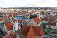 Rooftops of Munich. Stock Photos