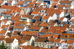 Rooftops in Nazare, Portugal Royalty Free Stock Photography