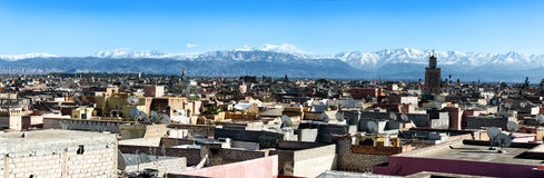 Rooftops near Jemaa el Fna, Marrakech, Morocco Stock Photos
