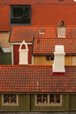 Rooftops and old chimneys Royalty Free Stock Photo