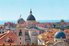 Rooftops of old city in Dubrovnik, Croatia Stock Photos