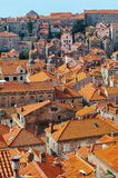 Rooftops of old city in Dubrovnik, Croatia Stock Photos