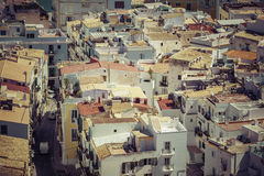 The rooftops of old city in Ibiza Royalty Free Stock Images