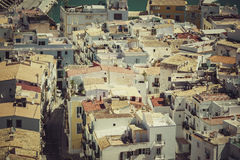 The rooftops of old city in Ibiza Royalty Free Stock Image