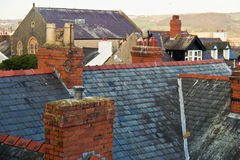 Rooftops from old, european homes Royalty Free Stock Photography