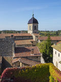 Rooftops of an old medieval village Perouges Stock Photo
