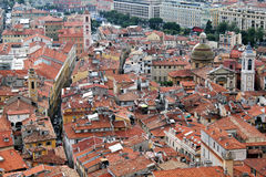 Rooftops Of Old Nice, France. The narrow streets and rooftops of Old Nice, France royalty free stock photography