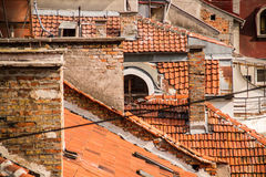 Rooftops. Old tiled roofs in Europe Royalty Free Stock Photo