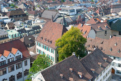 Rooftops of old town of Basel Royalty Free Stock Images
