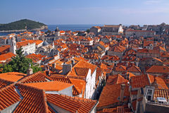 Rooftops of old town Dubrovnik Royalty Free Stock Photography