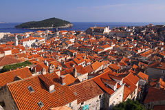 Rooftops of old town Dubrovnik Stock Photography