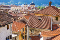 Rooftops of the old town of Kotor, Montenegro Royalty Free Stock Image