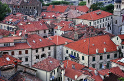 Rooftops in old town of  Kotor. Rooftops in old town of Kotor,old stone houses Stock Images