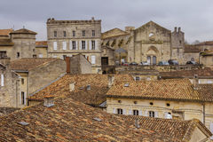 Rooftops of old village Stock Photo