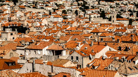 Rooftops. The orange rooftops of an old city Royalty Free Stock Photography