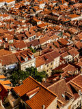 Rooftops. The orange rooftops of an old city Stock Image
