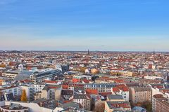 Rooftops over Berlin City on the day with blue sky Royalty Free Stock Photography