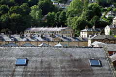 Rooftops over Hebden Bridge Stock Photo