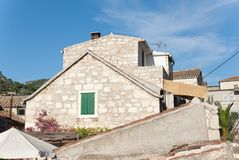 Rooftops over hvar Royalty Free Stock Photos