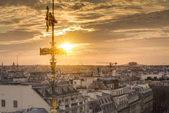 Rooftops of Paris from the Galeries Lafayette Stock Photos