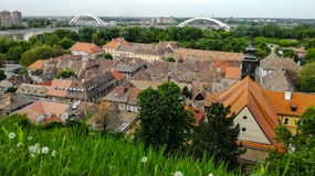 Rooftops of Petrovaradin royalty free stock photography