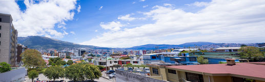 Rooftops with Pichincha volcano in the background Royalty Free Stock Photography