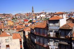 Rooftops of Porto. View of the Old Town of Porto, Portugal royalty free stock image