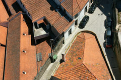 Rooftops of Porto. View of red roofs of the Old Town houses in Porto, Portugal Royalty Free Stock Image