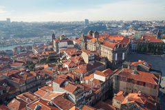 Rooftops of Porto's old town on a warm spring day, Porto, Portugal Stock Photography