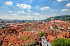 Rooftops of Prague, ancient town Stock Photography