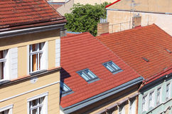 Rooftops of the Prague houses Stock Images