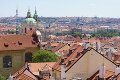 Rooftops of Prague and park, Czech Republic Royalty Free Stock Photography