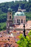 Rooftops of Prague and park, Czech Republic Royalty Free Stock Image