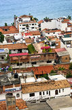 Rooftops in Puerto Vallarta, Mexico. View from above at rooftops in old Puerto Vallarta, Mexico Royalty Free Stock Photo