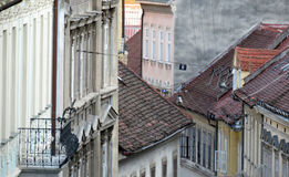 Rooftops of Radiceva Street in Zagreb Royalty Free Stock Photos